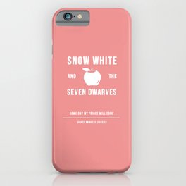Disney Princesses: Snow White Minimalist iPhone Case