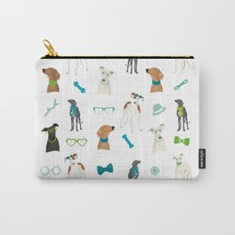 Sighthounds Pattern Green Carry-All Pouch