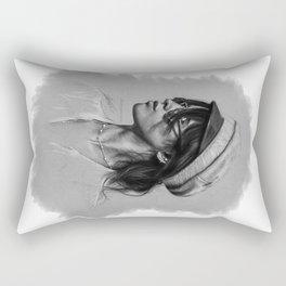 Camila Gray Sketch Rectangular Pillow