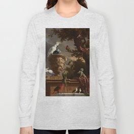 The Menagerie, Melchior d'Hondecoeter, c. 1690 Long Sleeve T-shirt