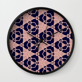 Pink Chain Linked Wall Clock