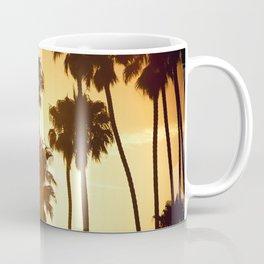 palm on venice at sunset Coffee Mug