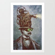 The Projectionist (colour option) Art Print