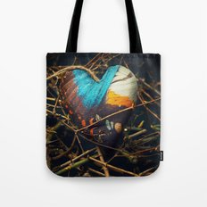 Butterfly heart amongst thorns Tote Bag