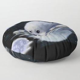 Destiny - Harp Seal Pup & Ice Floe Floor Pillow