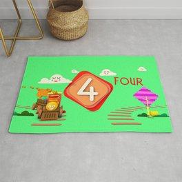 Number four - Kids Art Rug