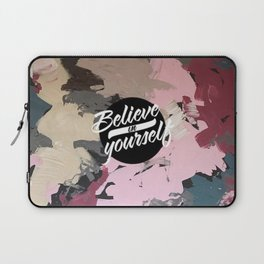 Petrol blue - believe in yourself Laptop Sleeve