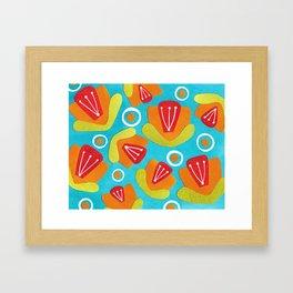 Orange Floral Framed Art Print