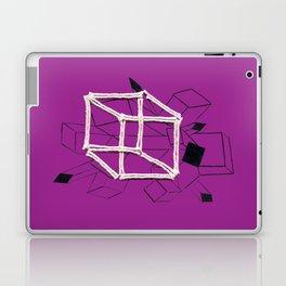 hypercube purple Laptop & iPad Skin