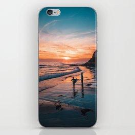 Surfer Sunset Silhouette iPhone Skin