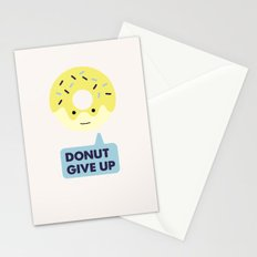 Donut give up Stationery Cards