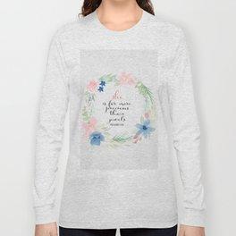 She is far more precious than rubies | Proverbs 31:10 | Christian Art Long Sleeve T-shirt