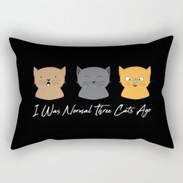I Was Normal Three Cats Ago - Kitten Feline Purr Rectangular Pillow