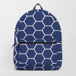 Blue honeycomb geometric pattern Backpack