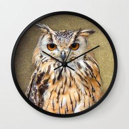 Indian Eagle Owl Wall Clock