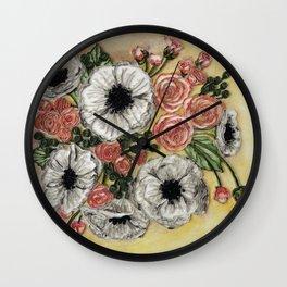 Flowers for Stephanie Wall Clock