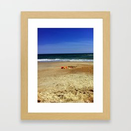 A Day in the Sand Framed Art Print
