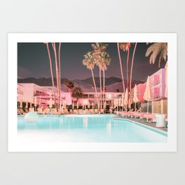 Palm Springs Vintage Hotel Art Print