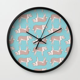 Cute Spotted Dog Pattern Wall Clock
