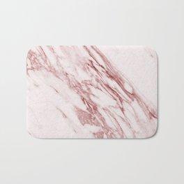 Deep rose pink marble Bath Mat