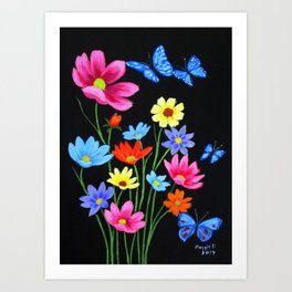 Wildflowers-3 Art Print