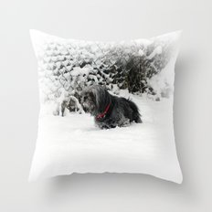 Cold feet Throw Pillow