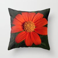 mexican Throw Pillows featuring Mexican Sunflower by Awesome Palette