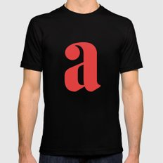 Lowercase a Mens Fitted Tee MEDIUM Black