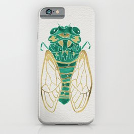 Cicada – Green & Gold iPhone Case