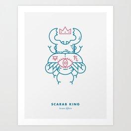 Scarab King Art Print