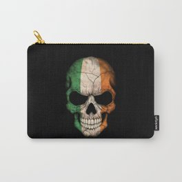 Dark Skull with Flag of Ireland Carry-All Pouch