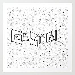 Reversed Zodiac Constellation Art Print