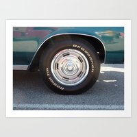 Muscle Car Wheel Art Print