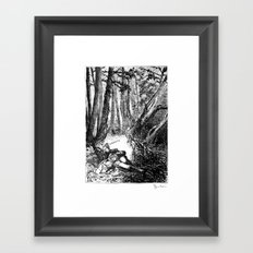 Murder in the Pines Framed Art Print