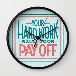 Fortune Cookie Wisdom Wall Clock