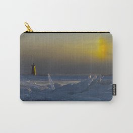 Manistique Lighthouse Sun Dog Carry-All Pouch
