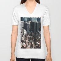vertigo V-neck T-shirts featuring Vertigo by Francois Guerin
