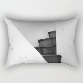 Black and White Stairs Rectangular Pillow
