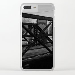 Deserted Bridge Clear iPhone Case