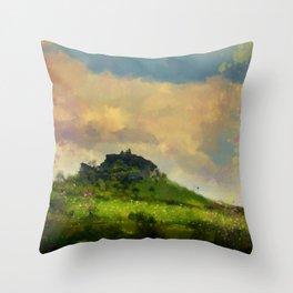 Citadel Walls Top Of The Hill Throw Pillow