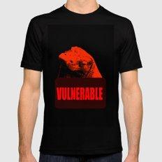 Vulnerable Komodo Dragon MEDIUM Black Mens Fitted Tee