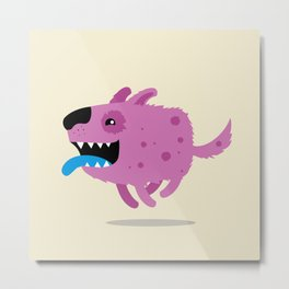 Purple dog Metal Print