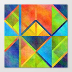Vibrant Geometric Pattern 14 Canvas Print