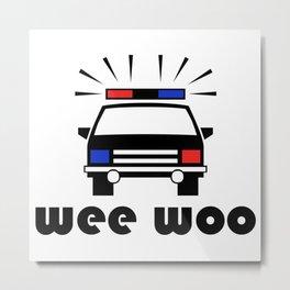 Police Car Wee Woo Metal Print