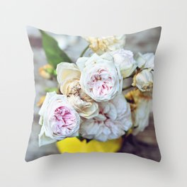 The Last Days of Spring - Old Roses I Throw Pillow