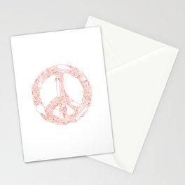 Looks like peace. Stationery Cards