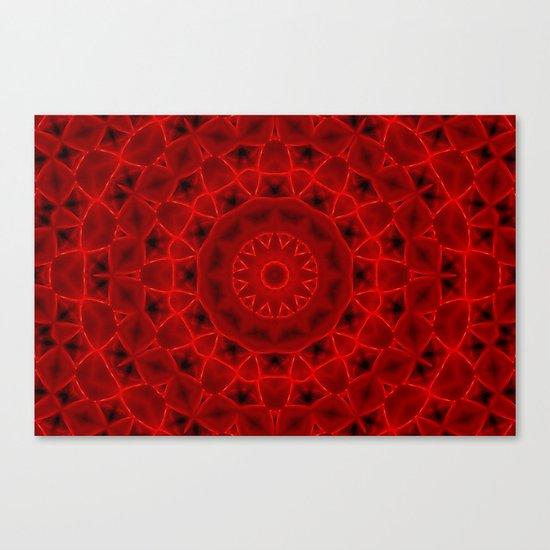Kaleidoscope Red Alien Nest Pattern Canvas Print