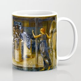 """Sir Edward Coley Burne-Jones """"The Knights of the Round Table Summoned to the Quest by a Damsel"""" Coffee Mug"""