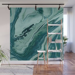 Blue Planet Marble Wall Mural