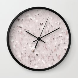 Pansy Field Floral Pattern VII Wall Clock